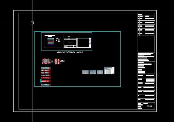hướng dẫn cách dùng layout trong Cad