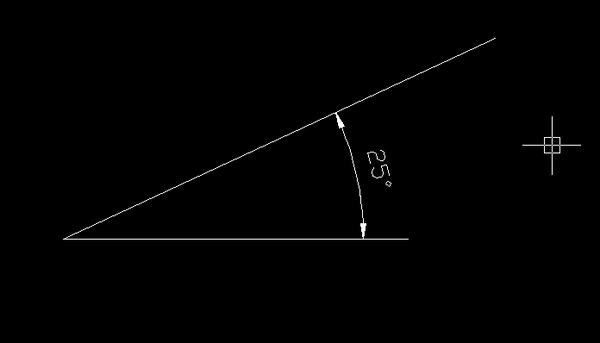 cách dùng lệnh đo góc trong Cad