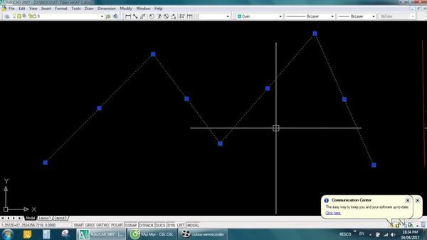 thao tác với Lệnh nối 2 đường thẳng trong Cad