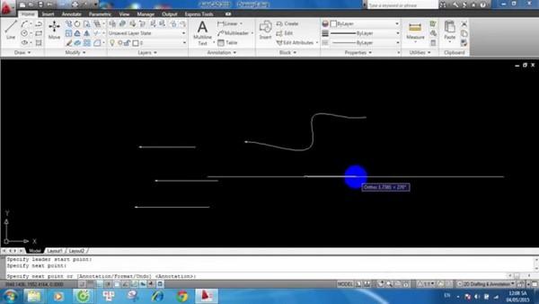 cách dùng lệnh vẽ đường cong trong Cad
