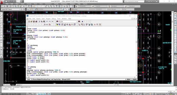 lisp cad là gì, thao tác trên lisp cad