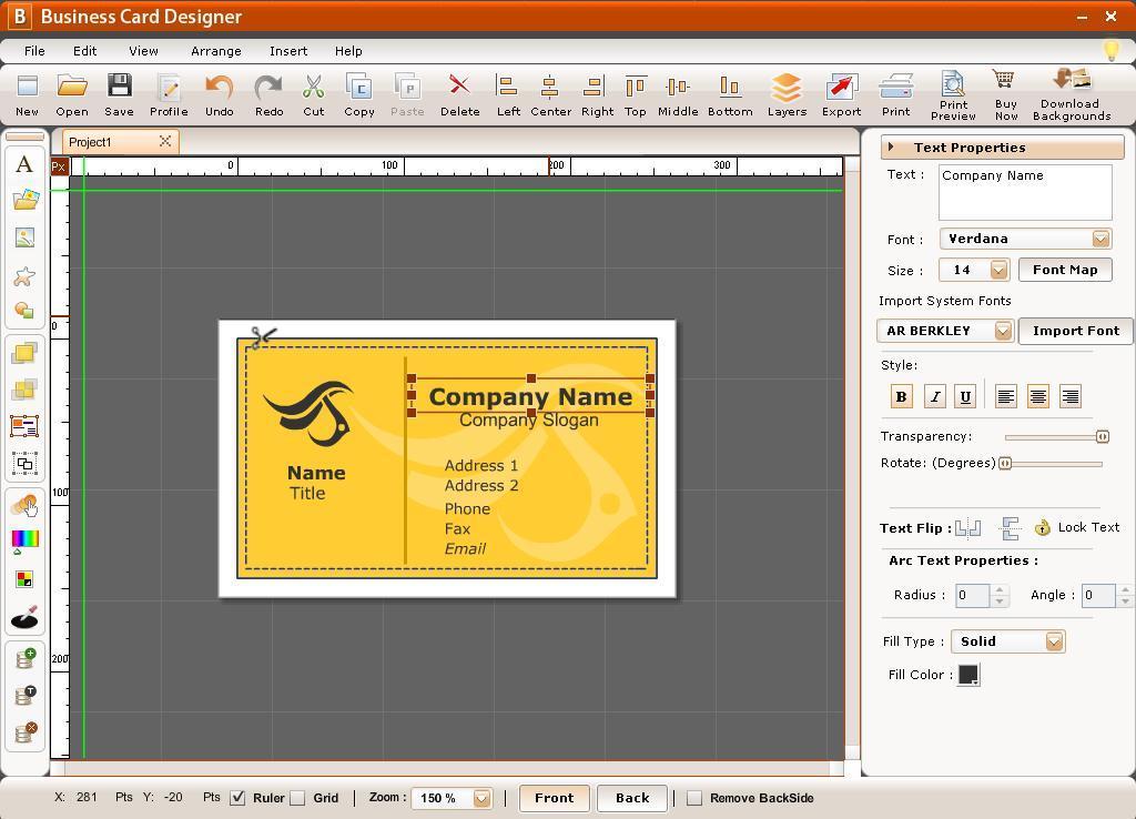 phần mềm Thiết kế Name Card