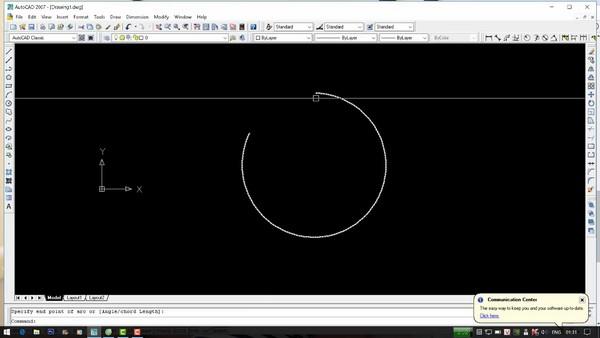 Vẽ cung tròn trong Cad