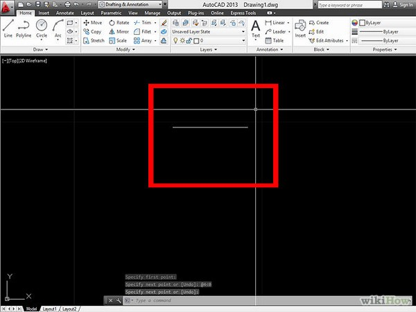 vẽ đường thẳng vuông góc trong Cad