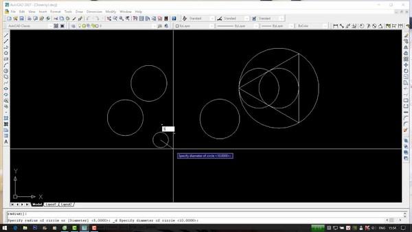 lệnh vẽ đường tròn trong Cad