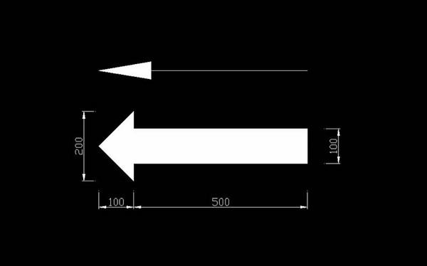 cách vẽ mũi tên trong cad