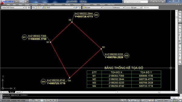hướng dẫn  xuất tọa độ trong cad
