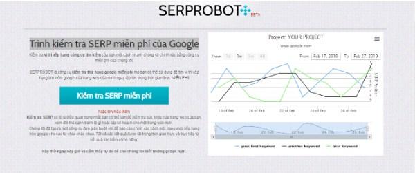Trình kiểm tra SERP miễn phí của Google