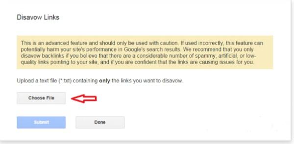 Cách sử dụng Google Disavow Link