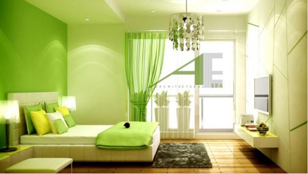 Lựa chọn đồ đạc, phòng ốc có màu xanh lá sẽ rất tốt cho người mệnh Mộc