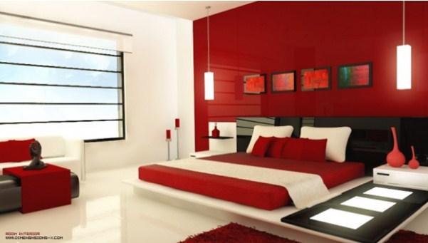 Màu đỏ tạo sự sang trọng và khơi gợi ngọn lửa đam mê hy vọng cho gia chủ