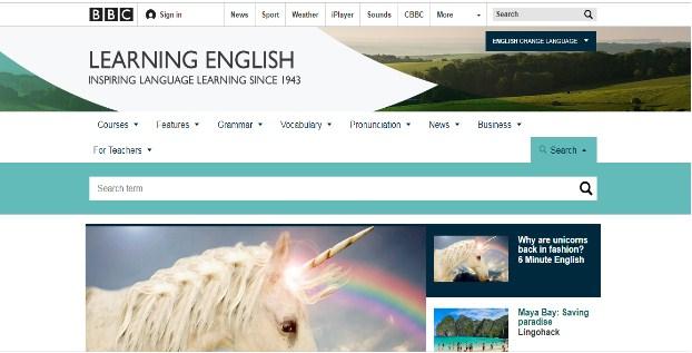 Phần mềm BBC Learning English rất phổ biến cho việc học tiếng Anh trên toàn thế giới