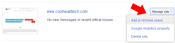 Hướng dẫn chia sẻ Google quyền truy cập Google Webmaster