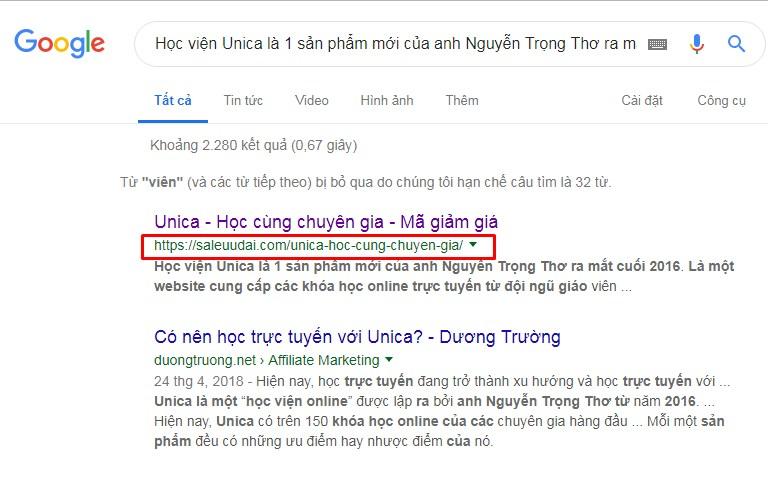 Hướng dẫn kiểm tra bài viết copy bằng Google