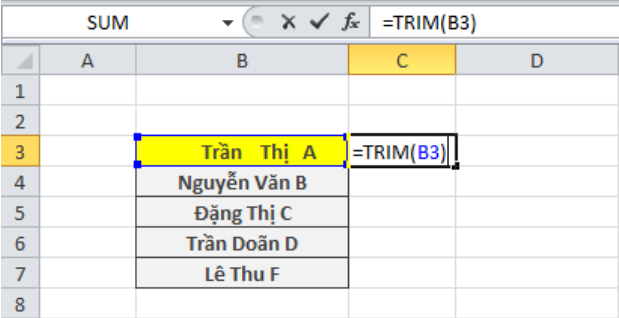 Cách xóa khoảng trắng trong Excel hiệu quả nhất