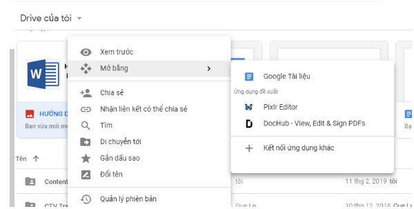 Sử dụng Google Drive