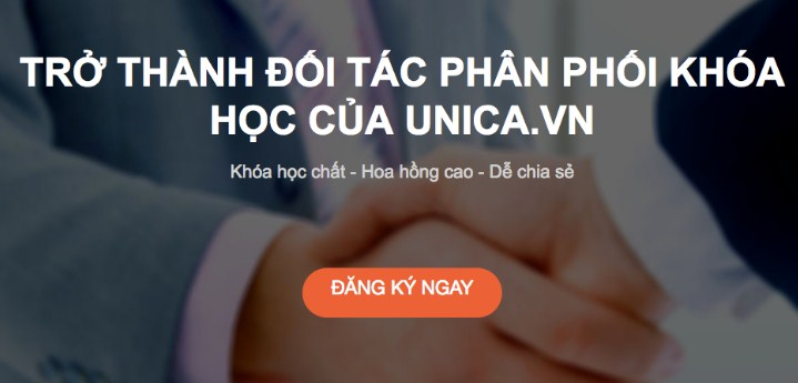 Đăng ký affiliate marketing với Unica