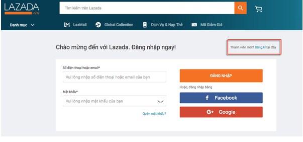 Các bước đăng ký tài khoản Lazada Affiliate