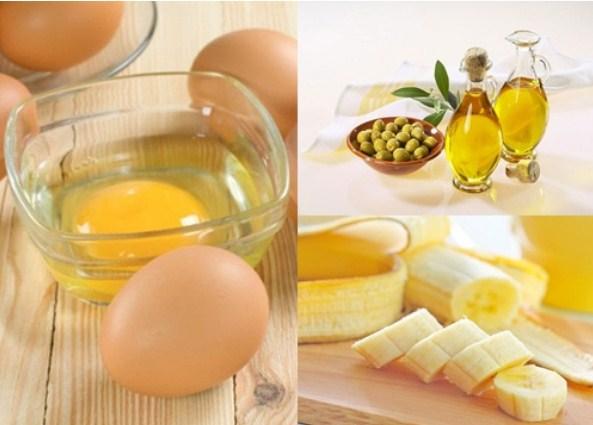 Chuối kết hợp với lòng đỏ trứng giúp đẩy lùi quá trình lão hóa da