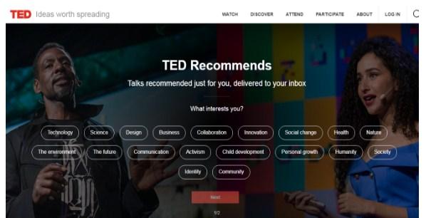 Ted Talks là phần mềm vô cùng hiệu quả chia sẻ rất nhiều giá trị