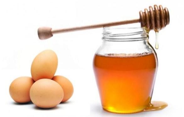 Trứng và mật ong giúp cho da mặt trắng mịn tự nhiên không lo bắt nắng