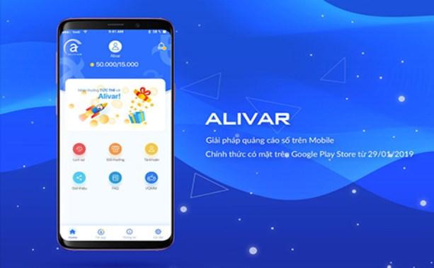 App quảng cáo kiếm tiền Aliver