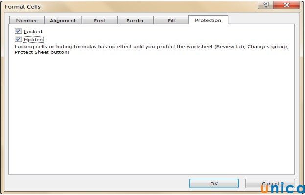 Cách ẩn công thức trong Excel