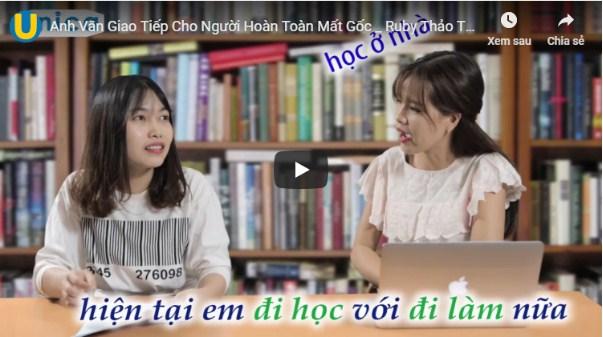 Khóa học của cô Ruby Thảo Trần trên Unica
