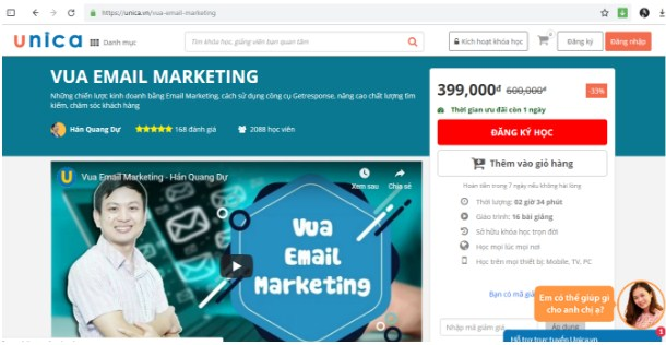 Khóa học Vua Email Marketing