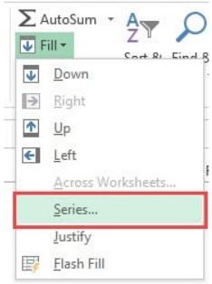 Cách đánh số hàng trong Excel 5