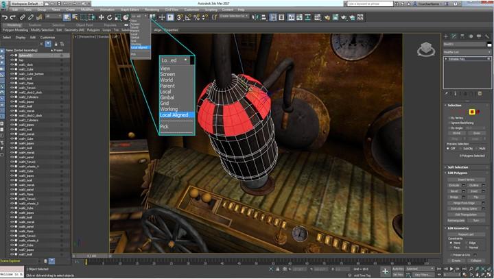 Các công cụ được tích hợp sẵn trong 3D Max