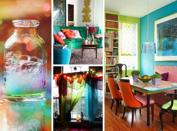 Bảng phối màu vui vẻ trong thiết kế nội thất