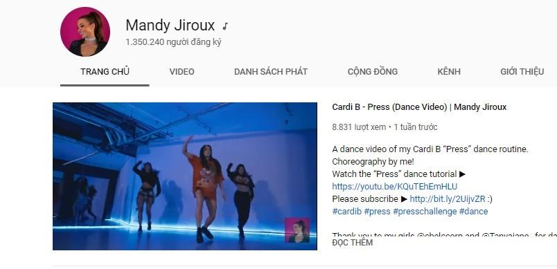 kênh youtube học nhảy hiện đại