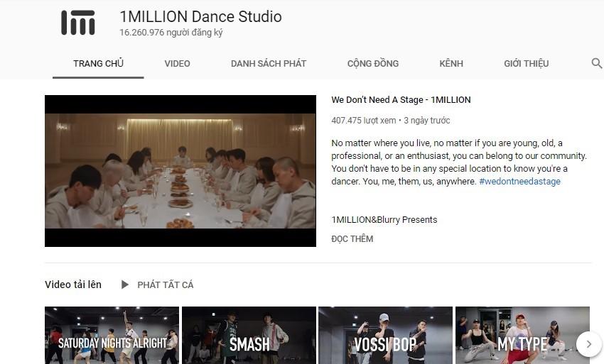 kênh Youtube dạy nhảy hiện đại đúng chuẩn