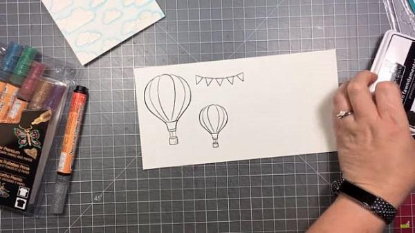 cách làm thiệp chúc mừng sinh nhật khinh khí cầu