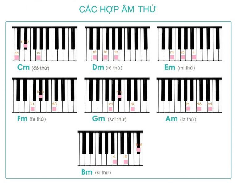 Cách bấm các hợp âm thứ trên đàn Organ