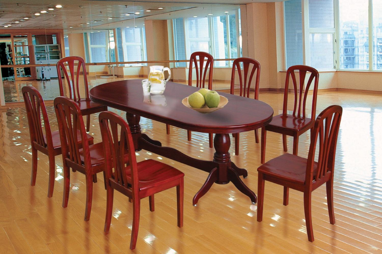 Kích thước bàn ăn 8 người hình oval