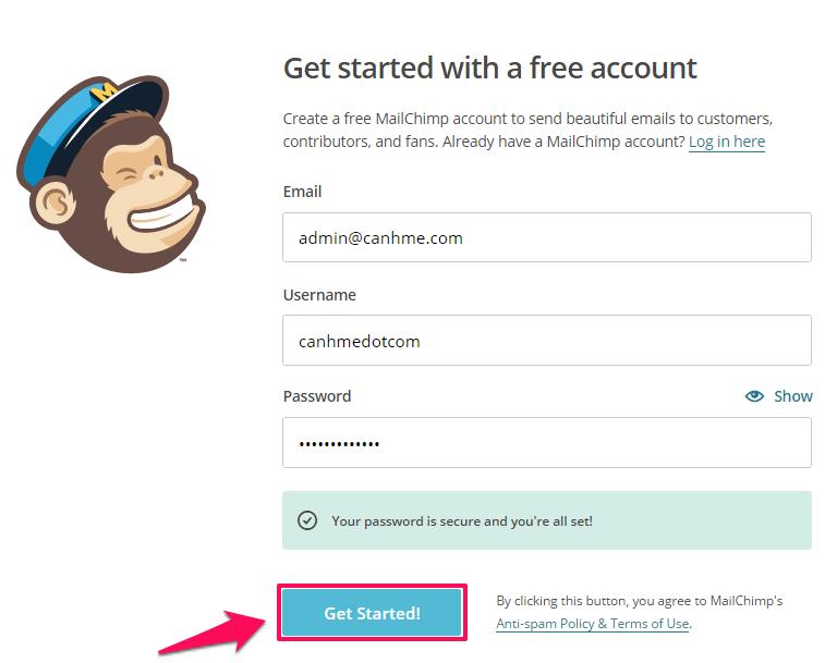 Cách dùng Mailchimp