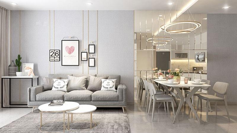 thiết kế nội thất nhà ở theo phong cách hiện đại
