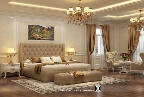 Thiết kế nội thất phòng ngủ theo phong cách tân cổ điển