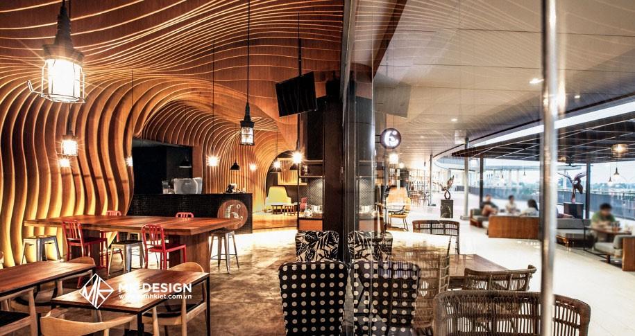 Thiết kế nội thất quán cafe theo phong cách đương đại