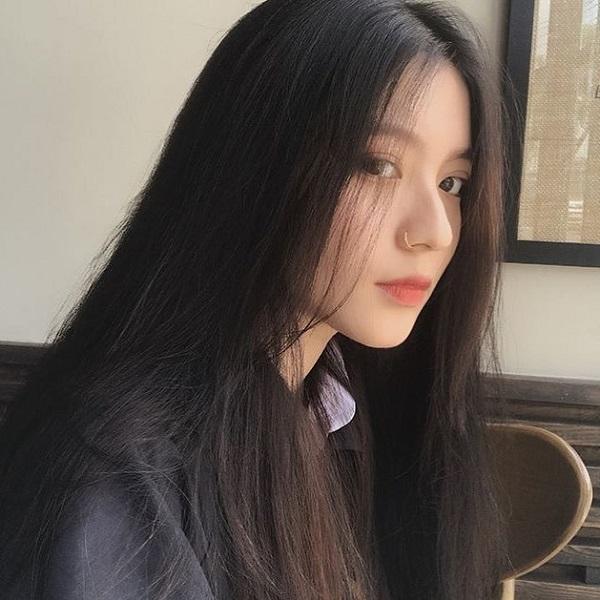 tóc mái dài duỗi thẳng