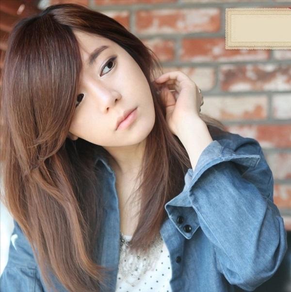 tóc mái dài đẹp