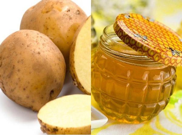 Mặt nạ khoai tây mật ong giúp trị mụn hiệu quả