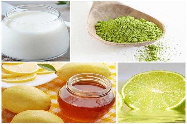 Kết hợp mặt nạ trà xanh sữa tươi với chanh để trị nám hiệu quả