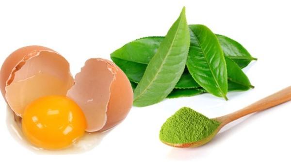 Mặt nạ trị nám từ trà xanh và lòng trắng trứng gà