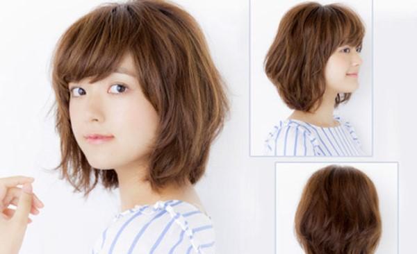 Kiểu tóc ngắn được cắt tỉa theo tầng