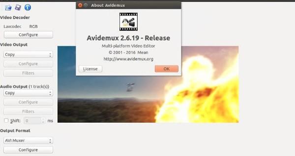 Avidemux là một phần mềm chỉnh sửa video