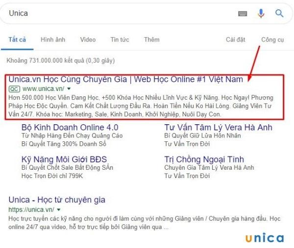 Quảng cáo Google Adwords Search