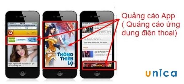 quảng cáo ứng dụng điện thoại